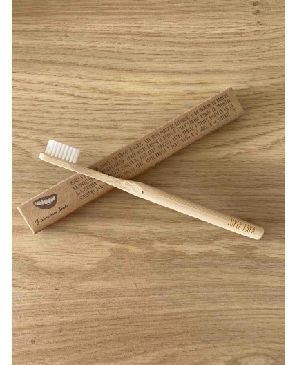 Brosse à dents bambou avec message