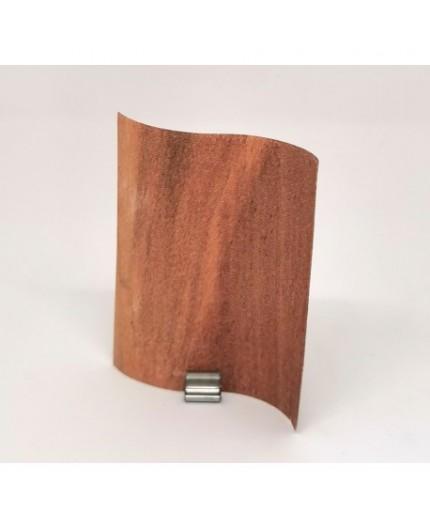 Mèche bougie en bois vague