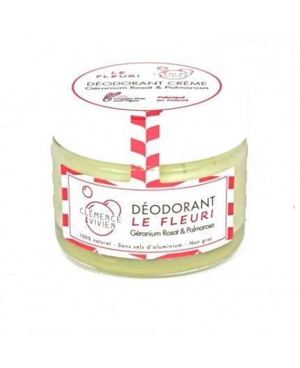 """Déodorant """"Le fleuri"""": Géranium rosat&Palmarosa - 50gr"""